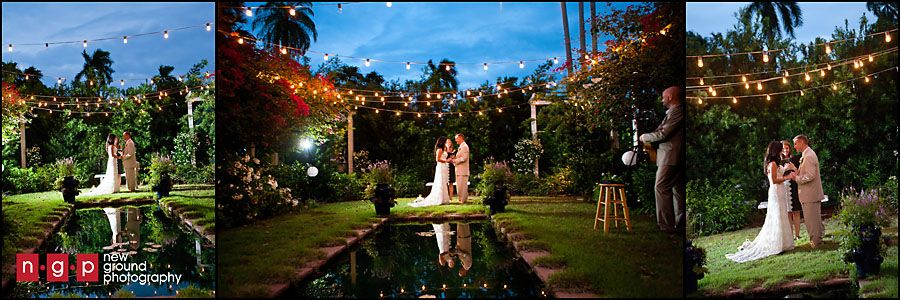 twilight night evening wedding garden florida weddnig venue reflecting pool lightsjpg 900300 elope pinterest fort myers