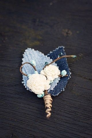 Ian Berry Denim Wedding #denimwedding #jeanswedding #wedding #suit #denimu #marriage #denimflower denim flower