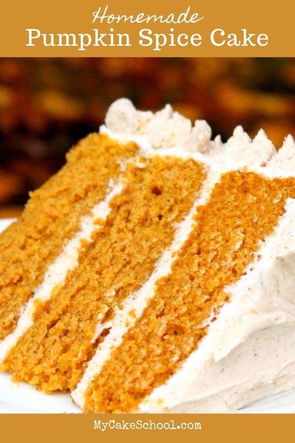 Delicious Moist Pumpkin Spice Cake Recipe from Scratch