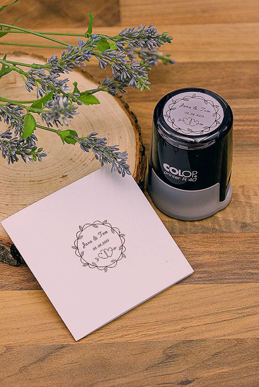 Photo of Einzigartiger Stempelabdruck für einen einzigartigen Tag. Designe deinen eigenen Hochzeitsstempel.