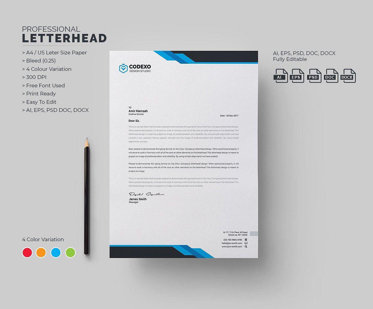 Modern Letterhead Smp Desain Ide