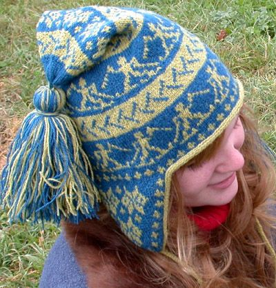 79411b8726a89 Free knitting pattern for Cross Country Chullo Earflap Hat ...