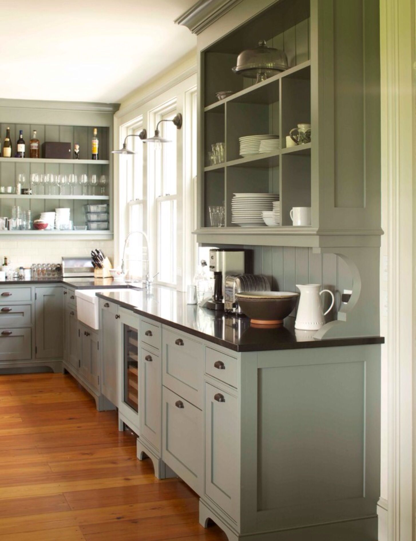 Cabinet colori really like this color country kitchen