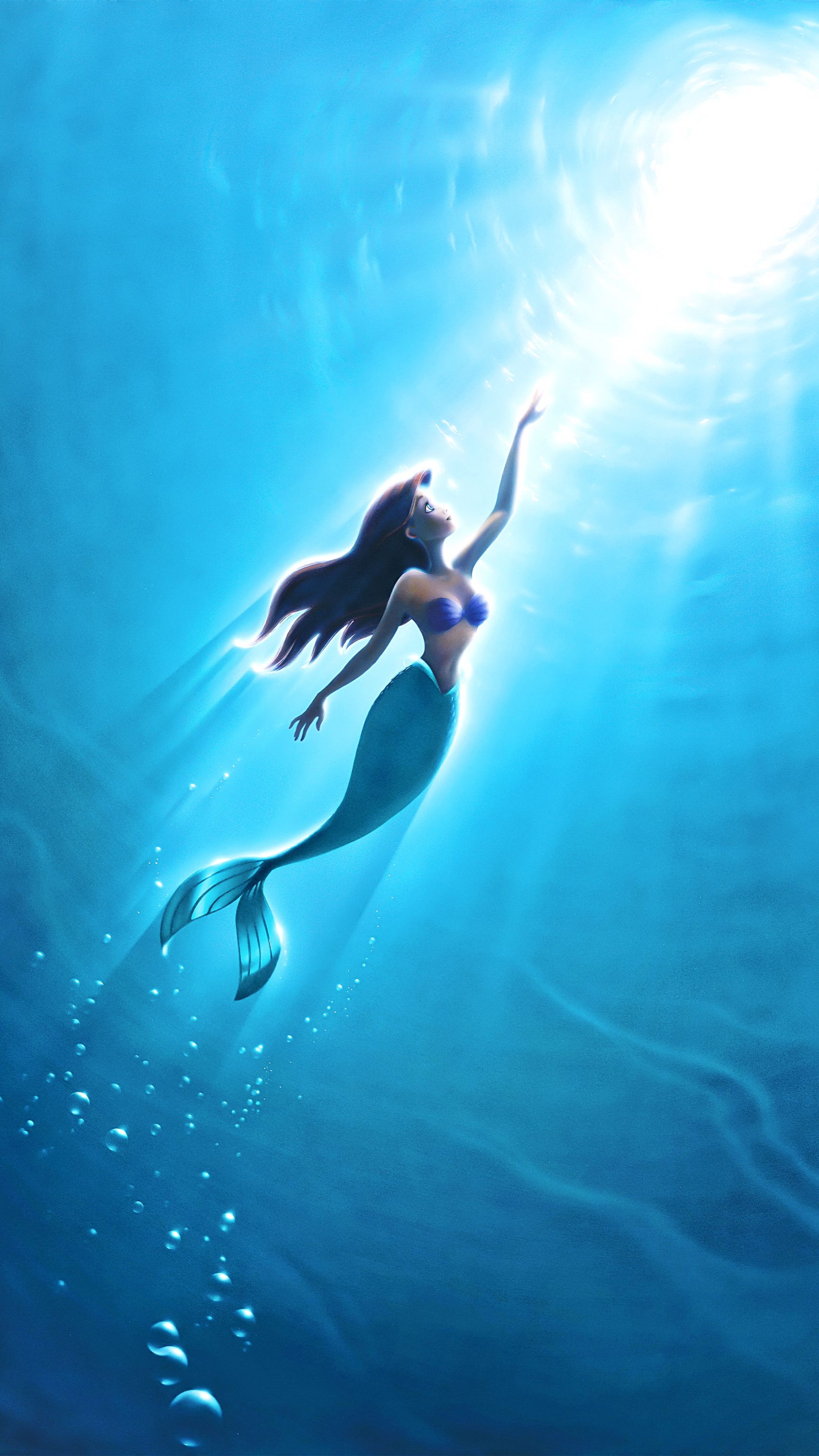 Ariel As A Lockscreen Wallpaper Disney Drawings Mermaid Wallpapers Disney Wallpaper