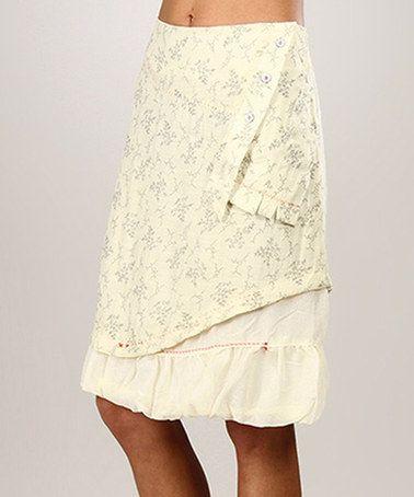 Look what I found on #zulily! Cream & White Murielle A-Line Skirt by L33 by Virginie&Moi #zulilyfinds
