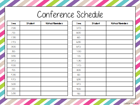 Parent Teacher Conference Speech And Language Forms  Speech