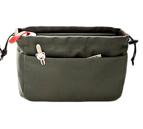 iSuperb Canvas Cosmetic Organizer Bag Multi Pockets Toiletry Makeup Bags Baginbag Drawstring Bag for Travel Small Army Green -- Check out this great product. Note:It is Affiliate Link to Amazon.