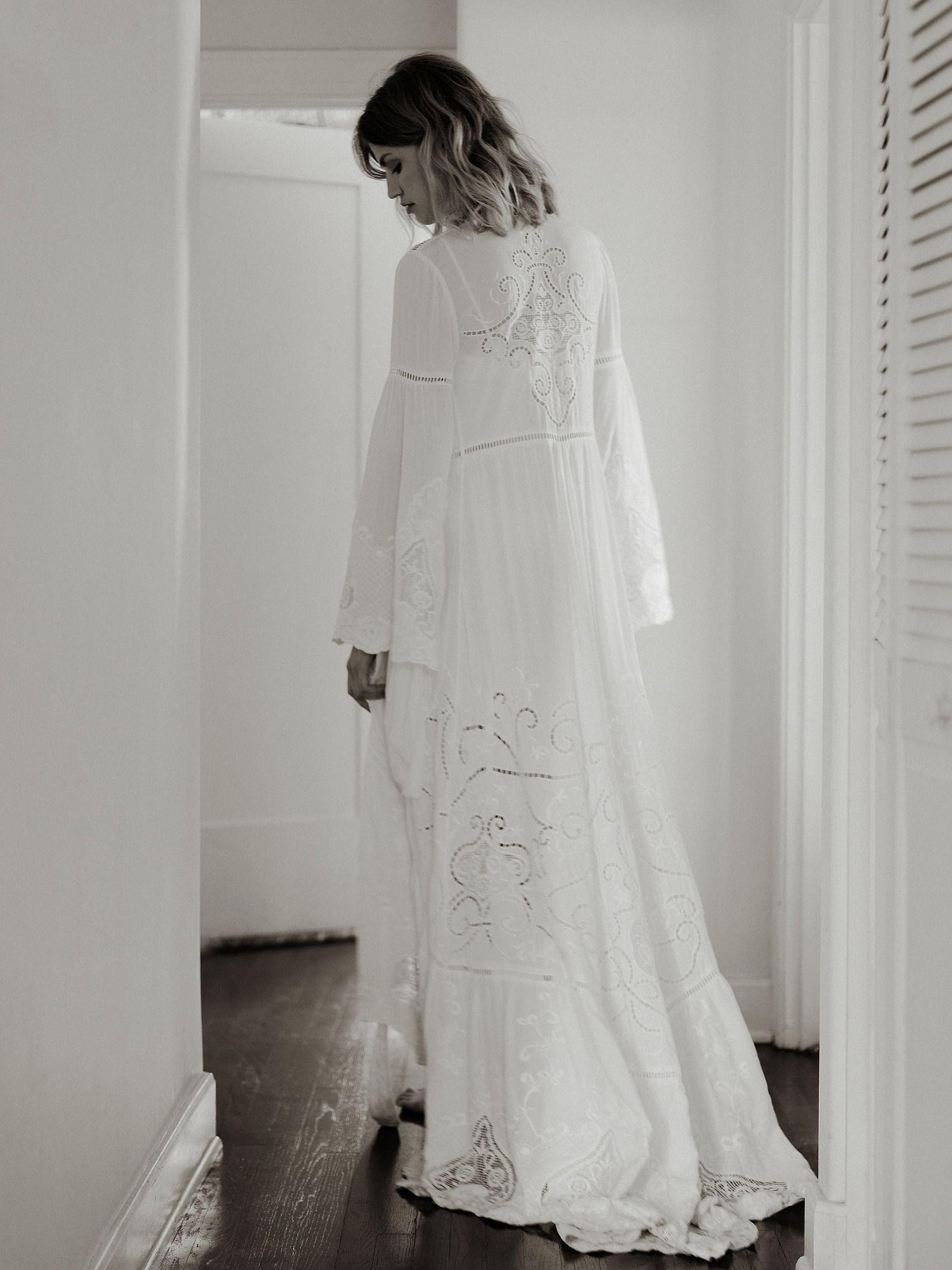 Free People Gwendolyn Wrap Gown Free People Wedding Dress Free People Bridal Dreamy Wedding Dress