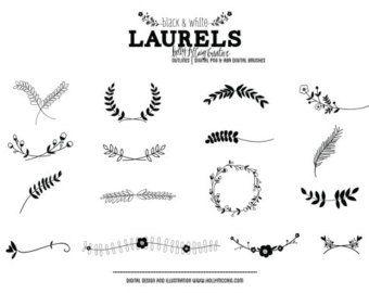 Dibujado A Mano Laurel Wreath Clip Art Imagenes Vector Y