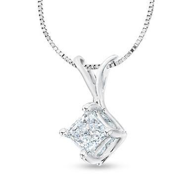 Fine Jewelry 3/4 CT. T.W. Diamond 14K Yellow Gold Over Silver Necklace kmz5byK
