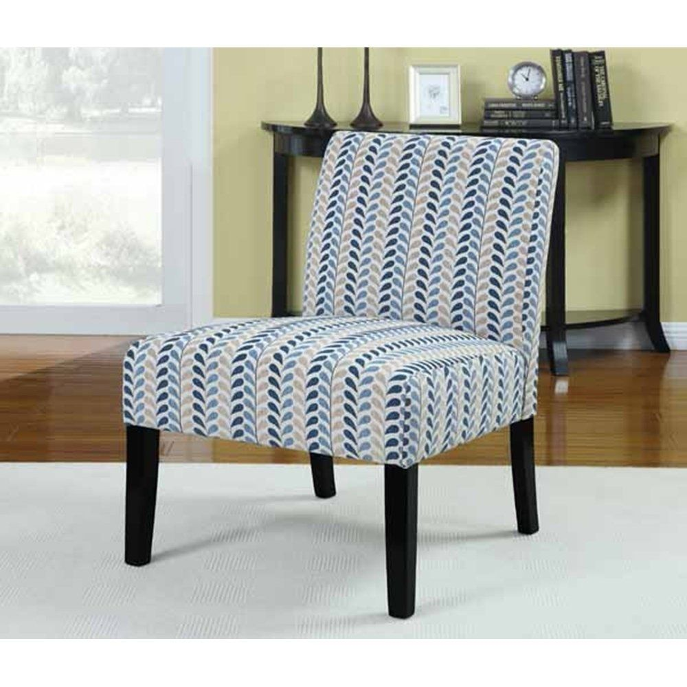 Francine Transitional Multi-color Accent Chair, Brown
