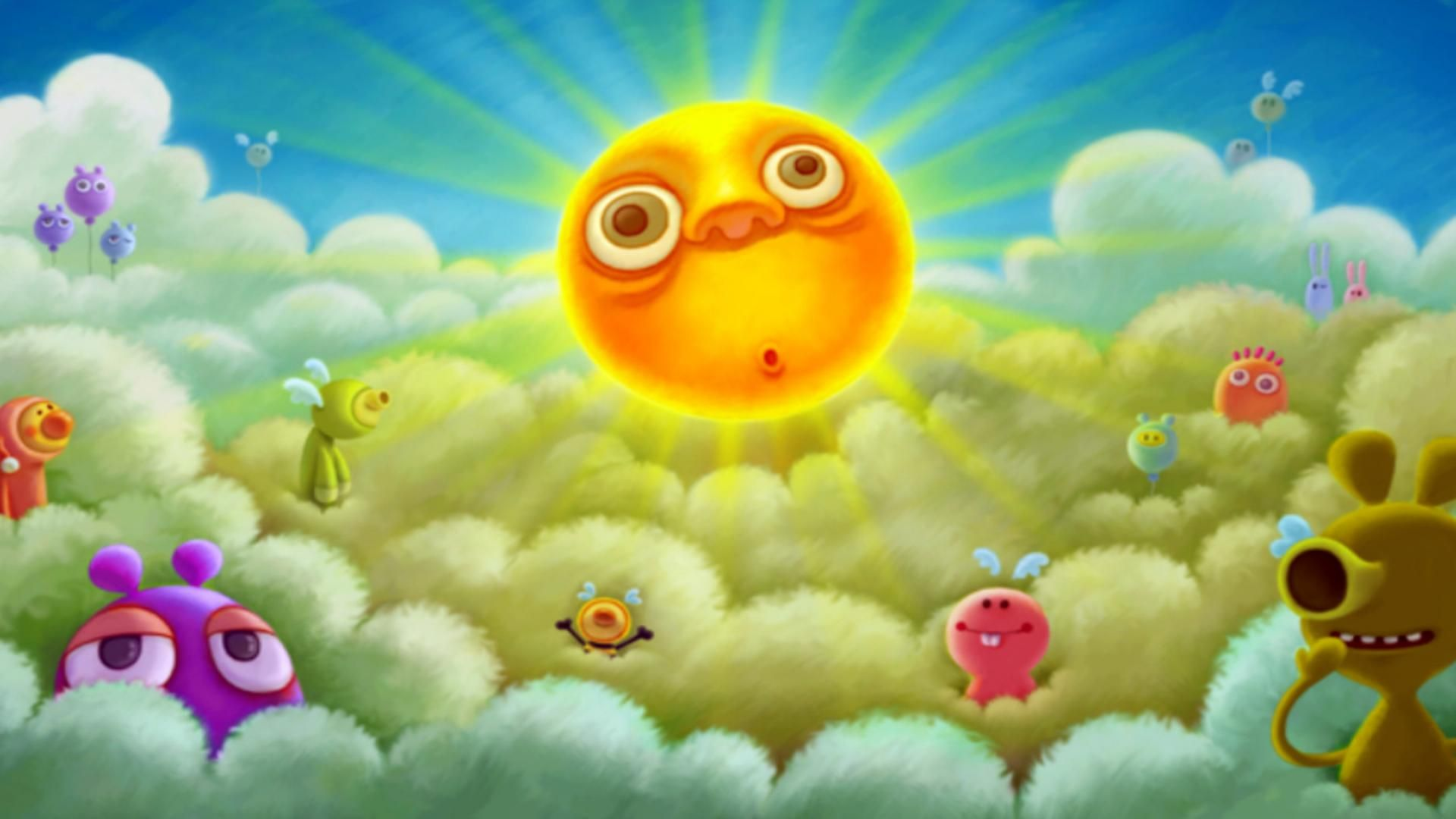 Free Desktop Wallpapers And Backgrounds With The Sun Is Rising, Cartoon,  Cute, Summer, Sun. Wallpapers No.