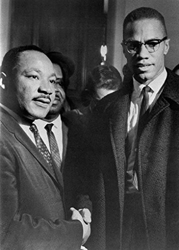 Malcolm X Mlk Poster Handshake Martin Luther King Rare Hot New 24x33 Black History Facts Black History African American History