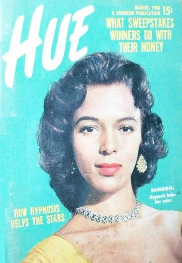 Dorothy Dandrdge On The Cover Of Hue Magazine March 1958 Vintage