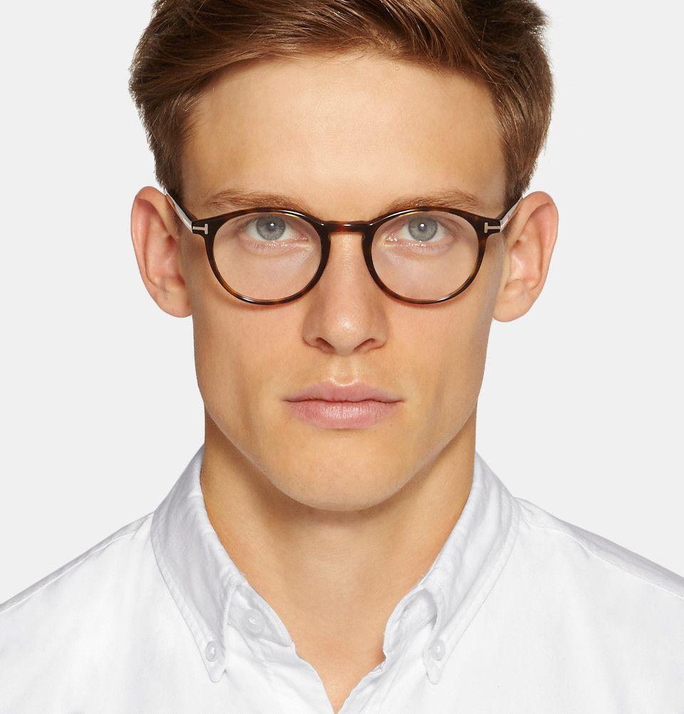 ba34fd5445c Tom Ford - Round-Frame Tortoiseshell Acetate Optical Glasses ...