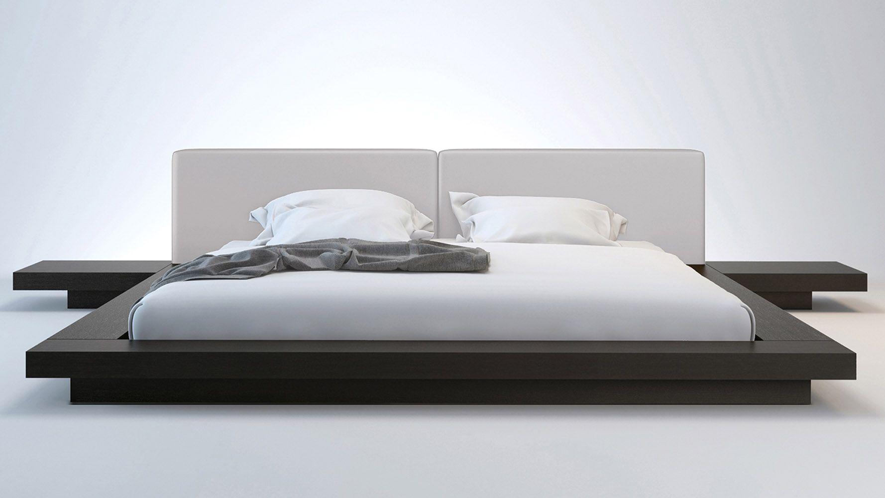 Leder Plattform Bett Rahmen Minimalistisches bett