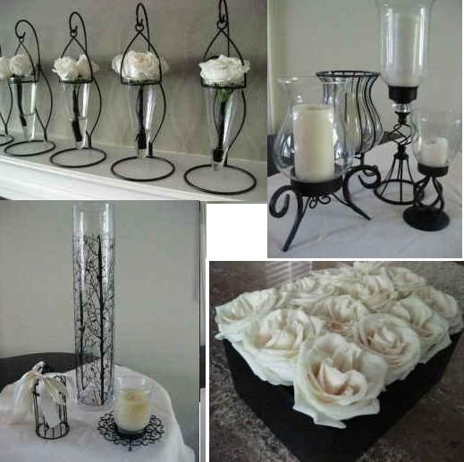 Black And White Wedding Centerpieces Room Decoration Ideas