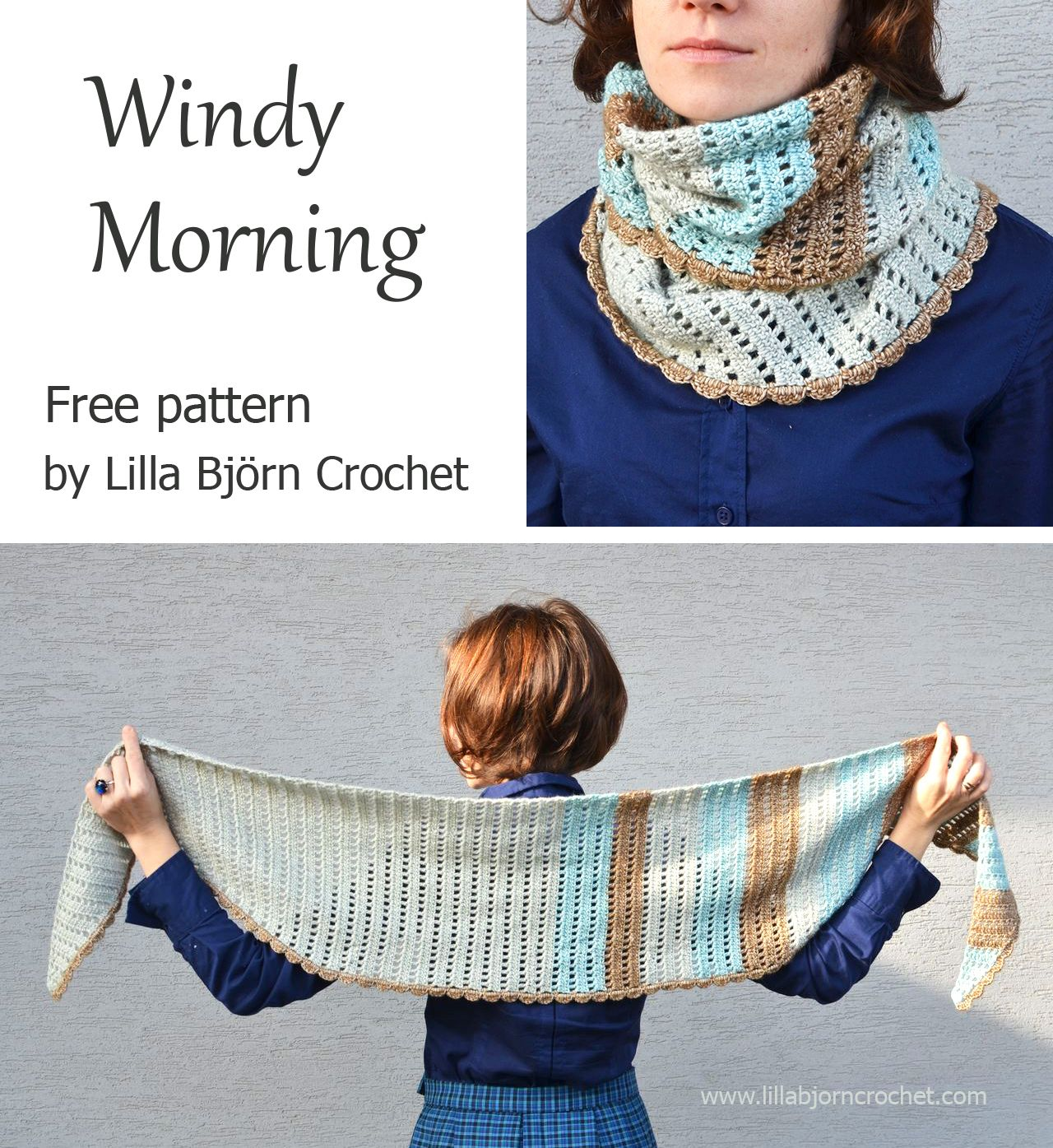Windy Morning Shawlette - free crochet pattern by Lilla Bjorn ...