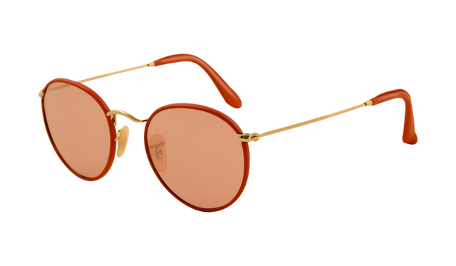 Ray Ban RB3475Q Sunglasses Red Frame Orange Red Crystal Lens ...
