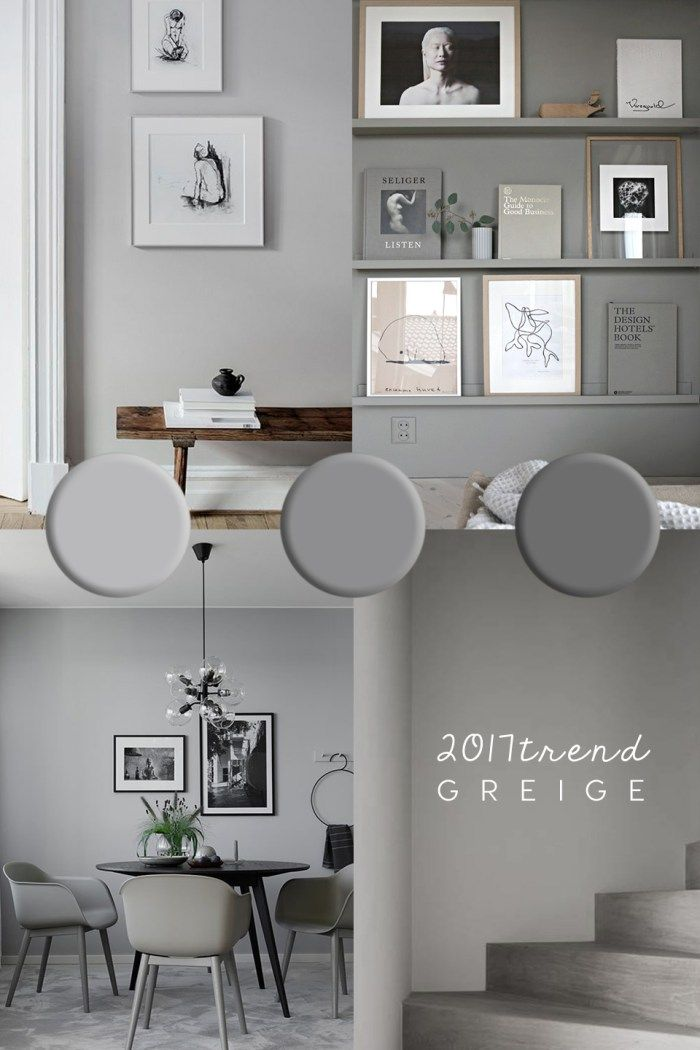 Greige color trend the perfect neutral color for wall for Interior colour design