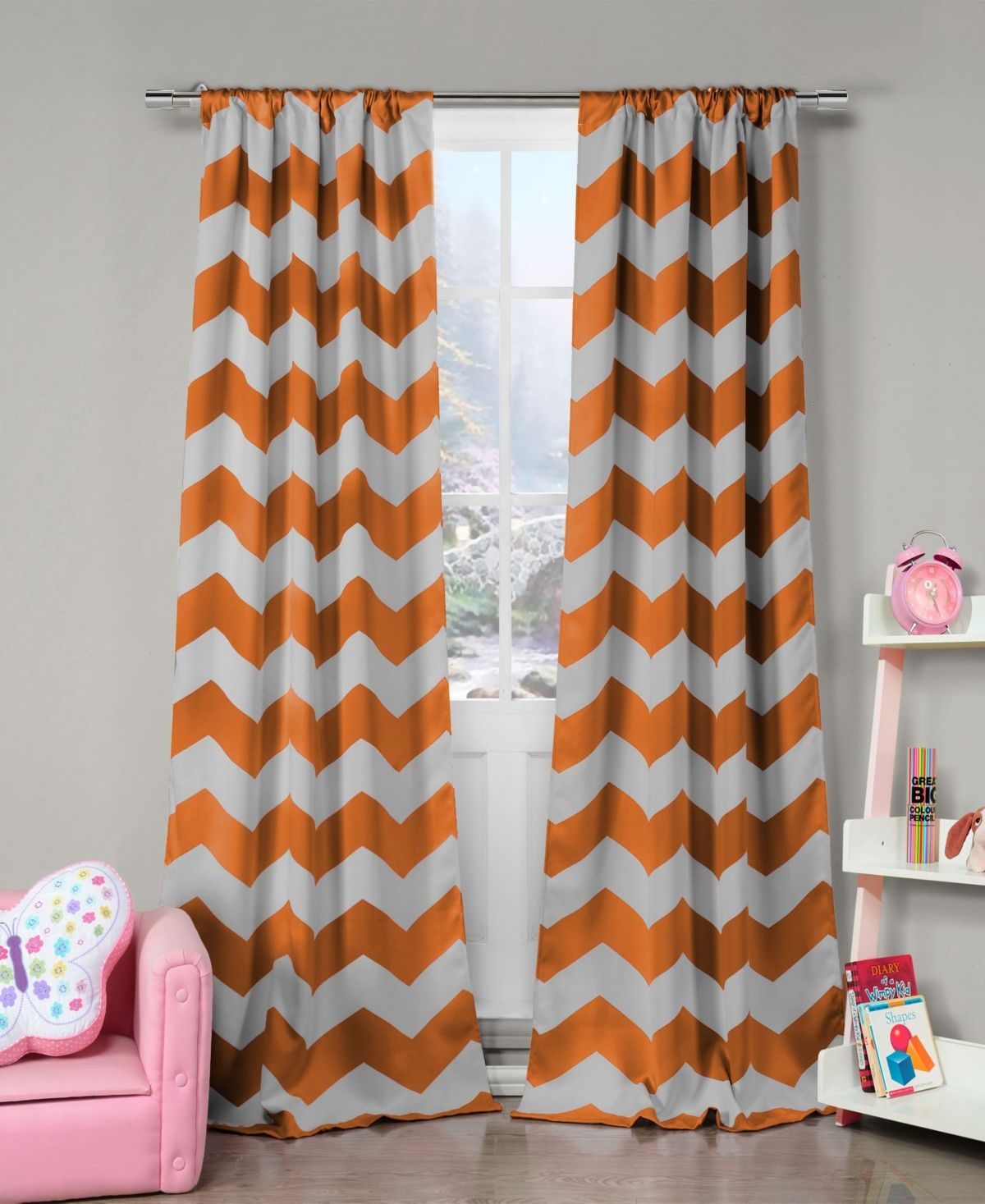 Duck River Textile Fifika 39 In 2020 Orange And Grey Curtains Curtains Blackout Curtains