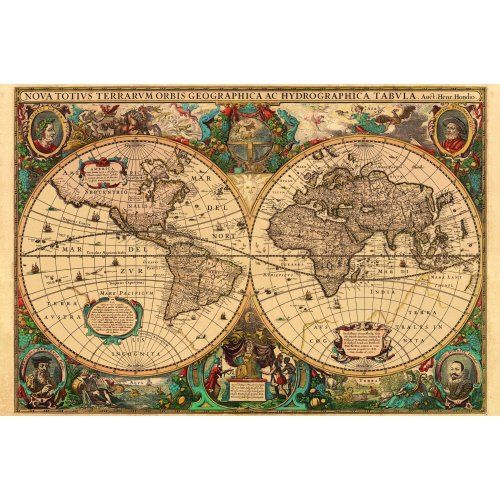 Antique world map 5000 piece jigsaw puzzle from jigsaw puzzles antique world map 5000 piece jigsaw puzzle from jigsaw puzzles direct order today and gumiabroncs Images