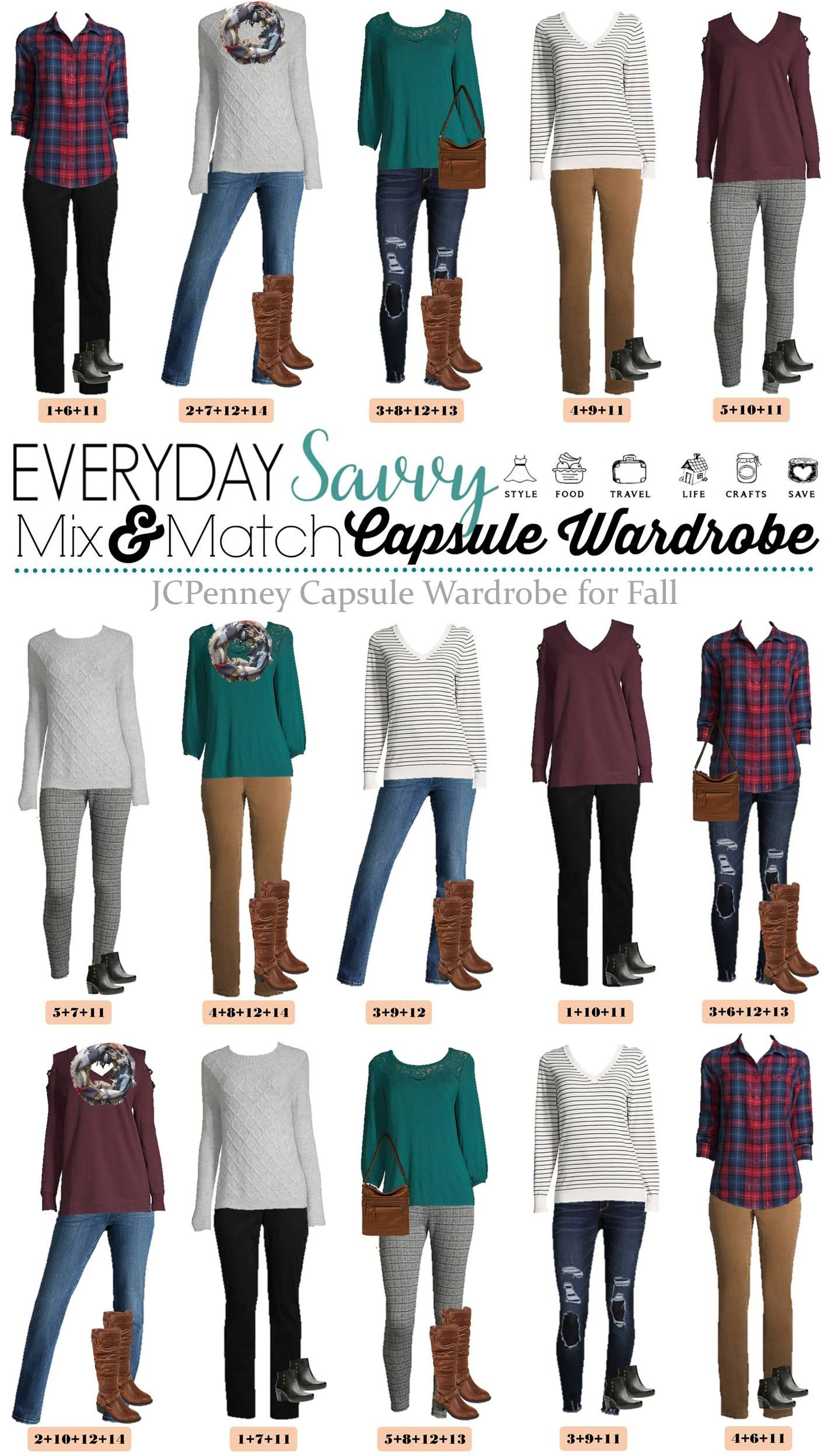 45e344f8377 Fall Casual Outfits - JCPenney Capsule Wardrobe