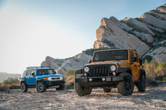 2014 Jeep Wrangler Unlimited Vs 2014 Toyota Fj Cruiser Motor