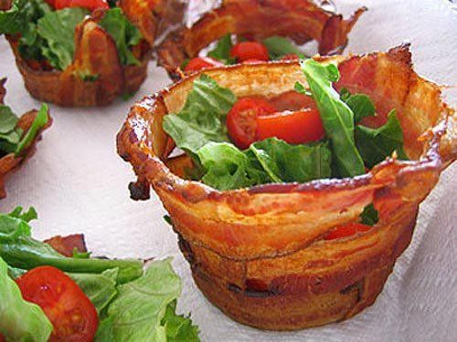 Bacon (cup) LT; throw some gorgozola and avocado in this....yes, PLEASE