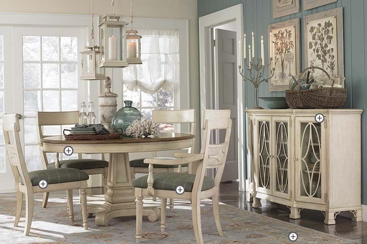 Bassett Moultrie Park Round Dining Table Available At Hickory Furniture Galleries
