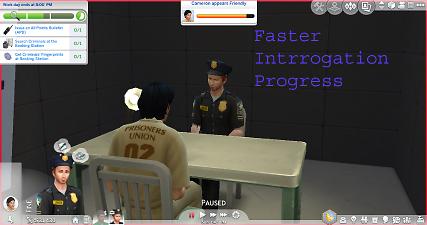 Mod The Sims Faster Interrogation Progress Sims 4