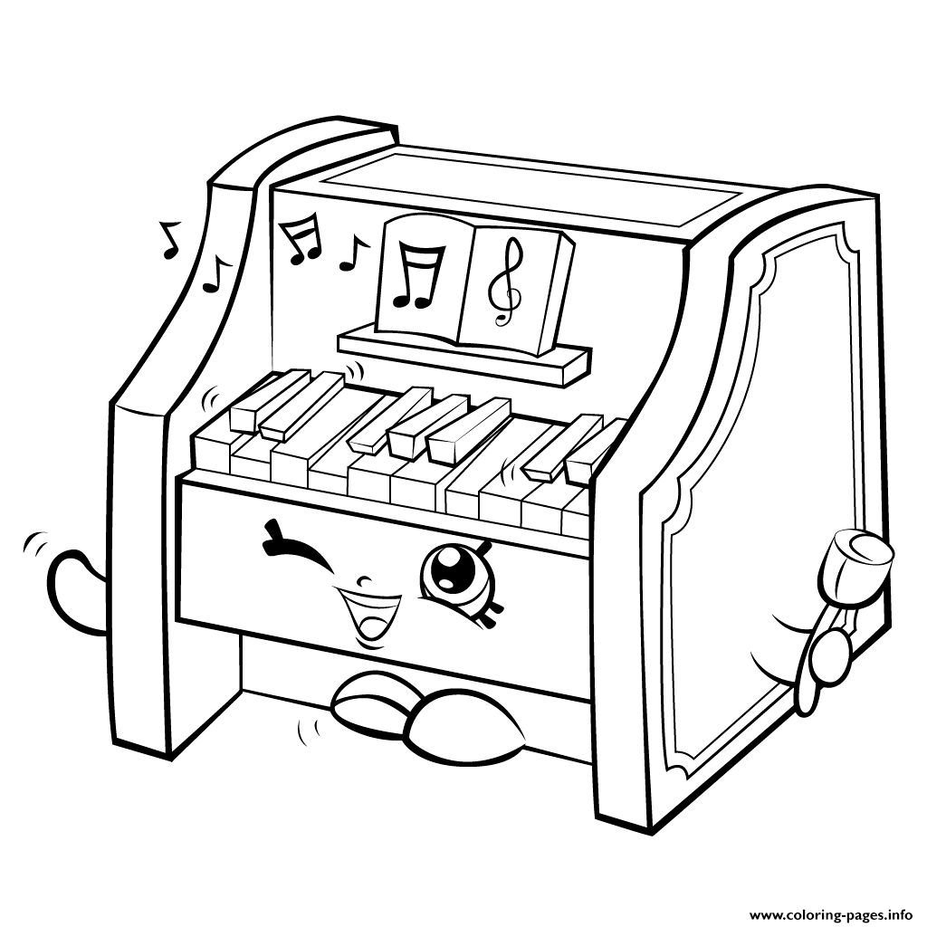 Print Piano Shopkins Season 5 Coloring Pages Dibujos