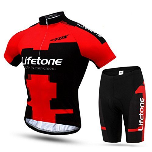 Mens Cycling Suit Long Sleeve Jersey Tops Pants Padded Quick Dry Road Bike Kits