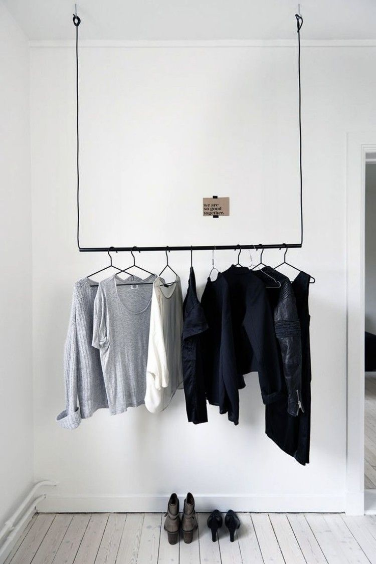 0b06e92c399 ganz einfache Variante zur Befestigung an der Decke Garderobe Hängend