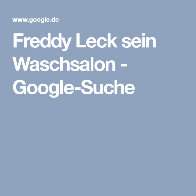 Freddy Leck Sein Waschsalon freddy leck sein waschsalon suche askanier uta