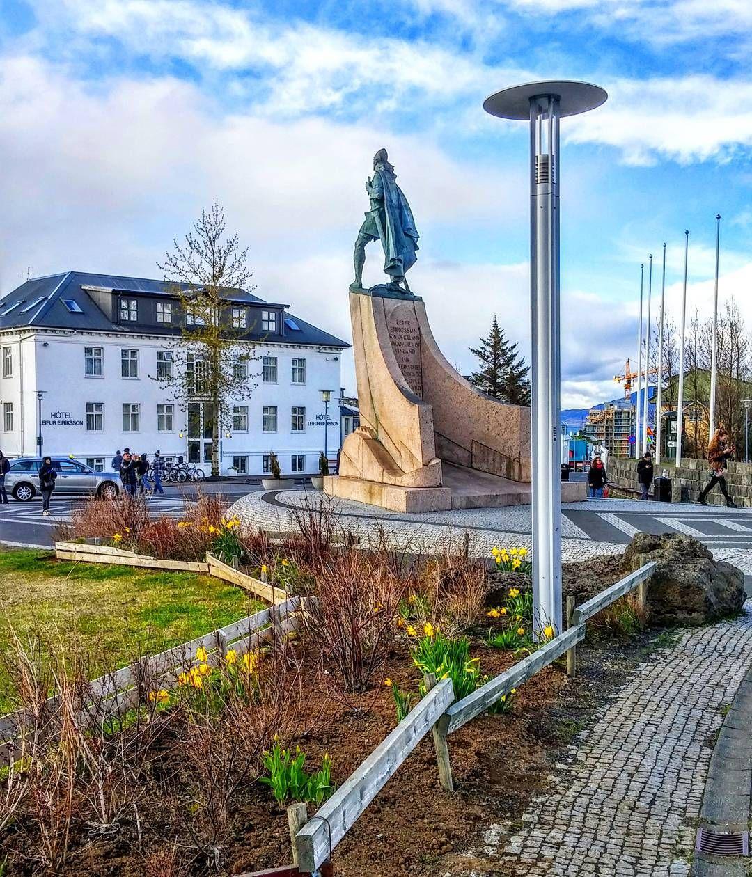 Leif Erikson Looking Epic Outside Of Hallgrimskirkja In