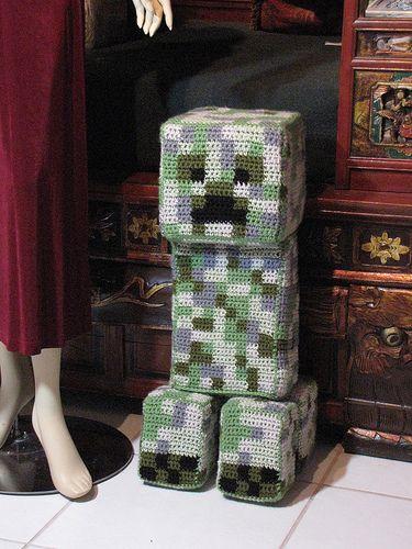Crochet Minecraft Creeper Flickr Photo Sharing Crochet
