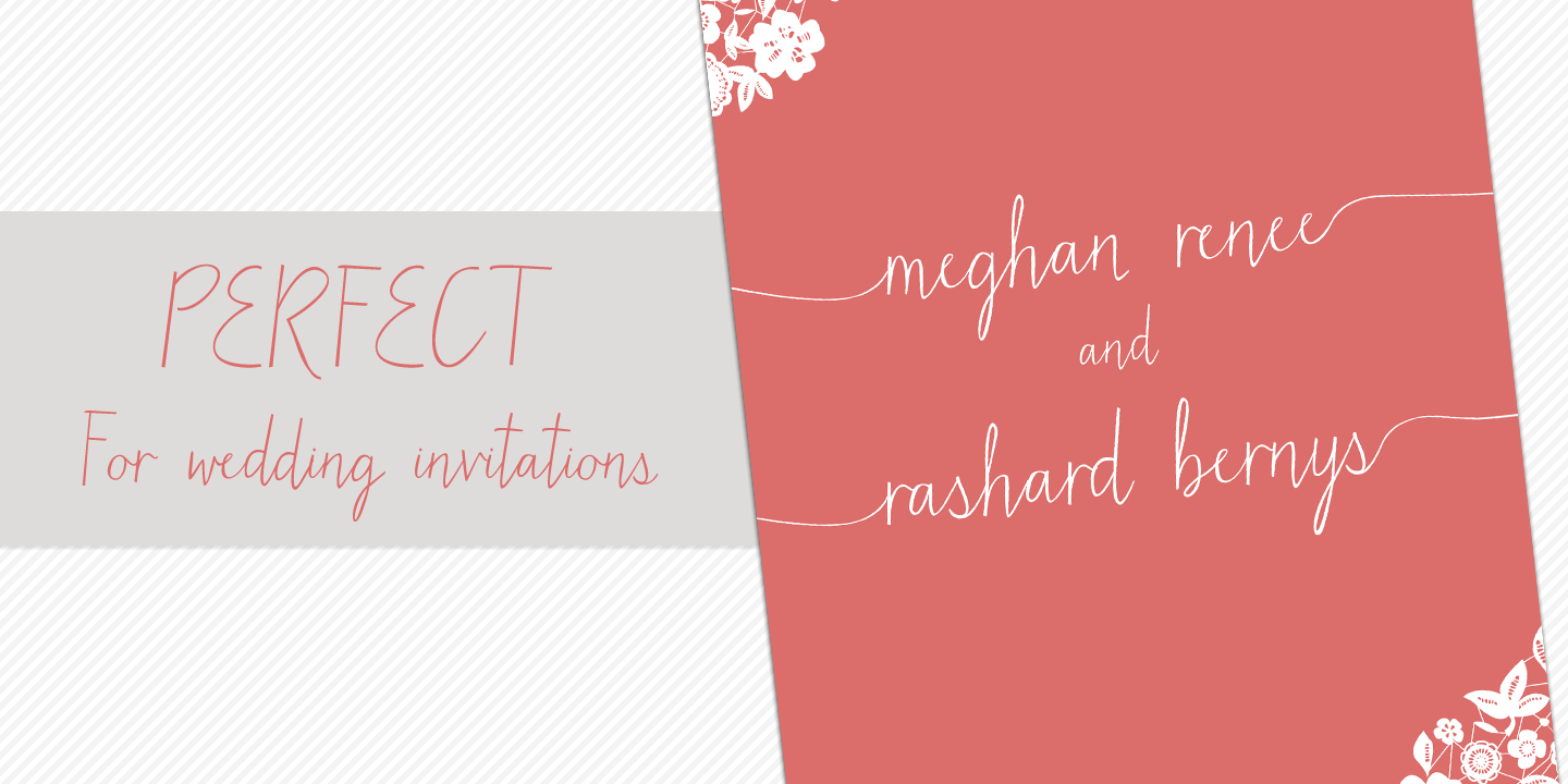 Matchmaker – this font is perfect for wedding invitations | Type ...