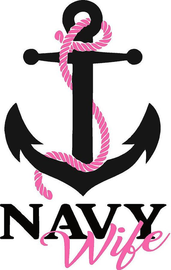 Navy Anchor Wife, Daughter, Mom or Sister vehicle decals / BLACK ...