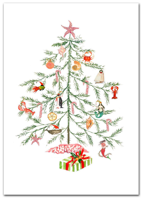 Nautical Christmas Tree cards | Festive ideas | Pinterest ...