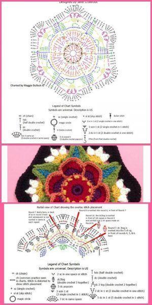 Couverture fleur Frida faire 4   – Häkeln