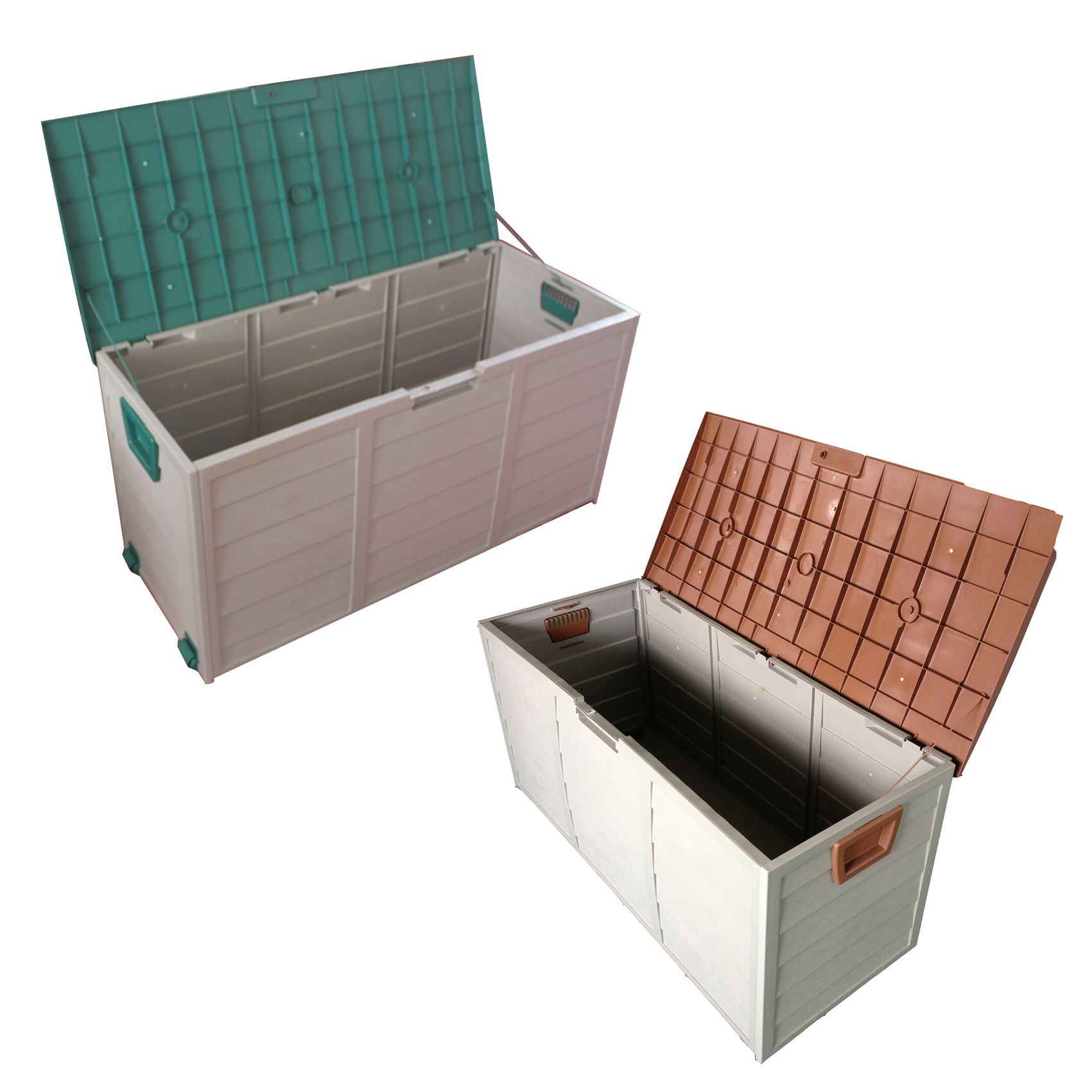 New Garden Outdoor Plastic Utility Storage Chest Shed Box Case Container  Wheels BUY A LOCK, Fill With Mud Or Sand And Digging Equipment