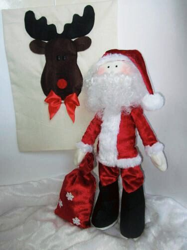 Tilda Santa,Santa Doll,gift bag,Santa Clause, Christmas doll, textile doll with bag,tilda style,tilda doll by LeatherBishkek on Etsy