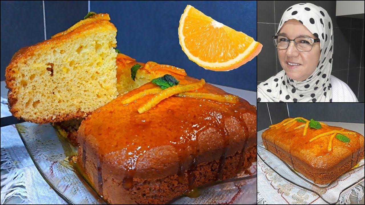 كيكة البرتقال اليومية في الخلاط كتجي خفيفة Orange Cake مع الحاجة فاطمة 438 Youtube Food Breakfast French Toast