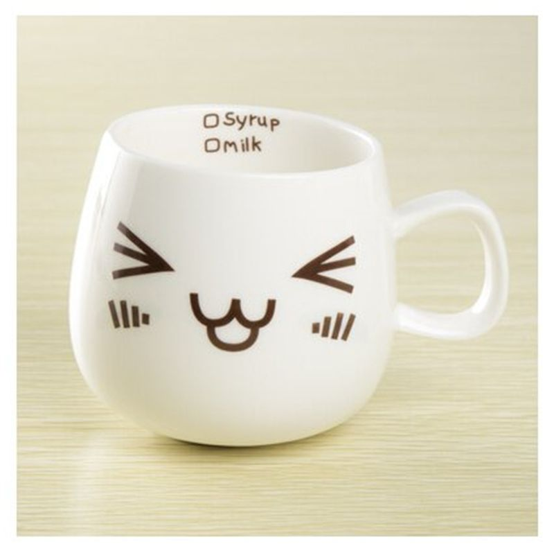 Cartoon Face Expression Ceramic Coffee Mug