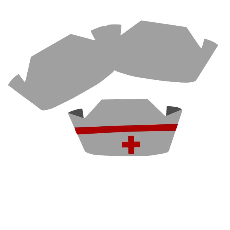 Nurse Cap Card Free Template Nursing Cap Nurse Hat Nurse Crafts