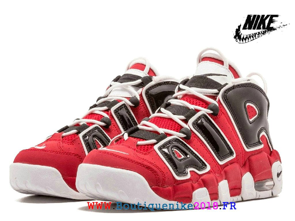 low priced 2b879 a2a55 Nike Air More Uptempo 2018 GS Chaussures LifeStyle Pas Cher Pour Femme/ Enfant Rouge intense