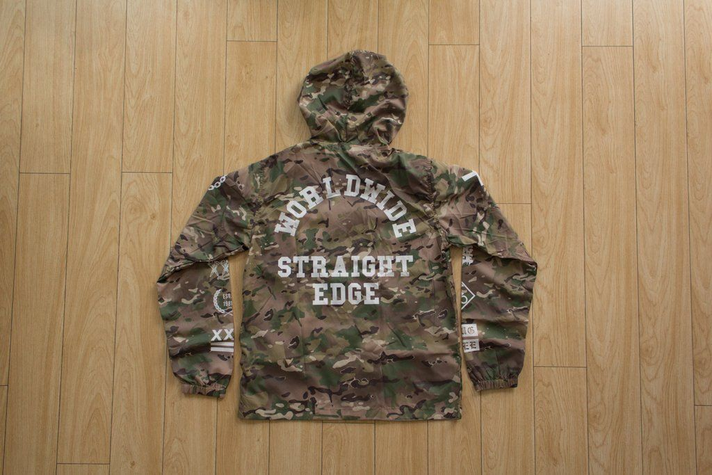 Multi Camo Windbreaker | Straight Edge Clothing | Camo