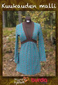 Burda, kuukauden malli 9/12  suede for the trim, love it!
