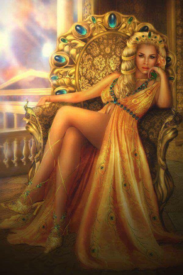 Greek mythology and golden throne